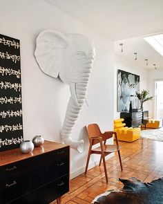 Home of Bruno Raymond (owner of La Maison de L'Elephant - a Spanish interior furnishings store)