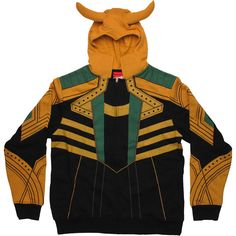 Loki Costume Hoodie. I probably couldn't wear this in public... Just to the movie theater.