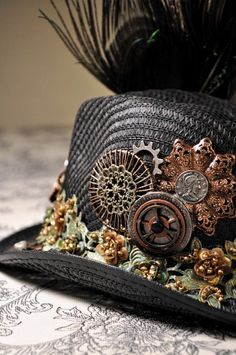 Steampunk hat-could this be done for a SteamPunk Cowboy?