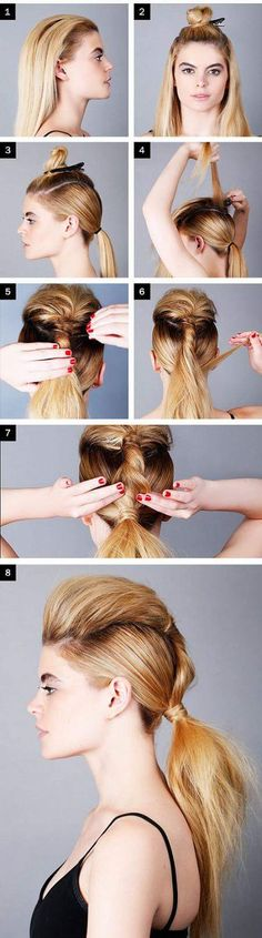 Easy to create hair design ideas with ponytail