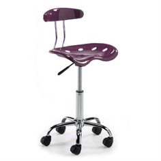 Silla de escritorio Planeta con ruedas color Lila