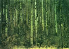 Forest at Dusk - Albin Egger-Lienz 1895 Olive Oil Benefits, Tree Images, Autumn Trees, Tree Art, Famous Artists, Tree Of Life, Dusk, Oil On Canvas, Cool Art