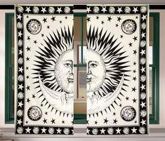 Mandala Curtains, Tapestry Curtains, Room Tapestry, Boho Curtains, Mandala Tapestry, Hanging Curtains, Panel Curtains, Window Valances, Cotton Curtains
