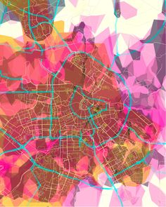 prettymaps (amsterdam) by Aaron Straup Cope, prints available. Amsterdam Map, Map Quilt, Graphic Art, Graphic Design, Artistic Installation, Map Design, Design Graphique, Architecture Drawings, Art Plastique