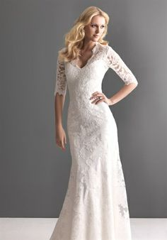 The top of this dress is great! Love the deep V-neck and the lace sleeves