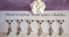 Wine Glass Charms - Shoe Wine Glass Charms - Birthday Gift Ideas - New Home Gift £9.99 Gala Dinner, Great Birthday Gifts, Birthday Ideas, Wine Glass Charms, New Home Gifts, Wedding Favours, Hostess Gifts, Mother Day Gifts, Teacher Gifts
