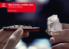 Cutesy-wootsy ad via Germany for Vodafone's video rental service. Ad agency: Scholz