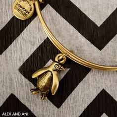 ALEX AND ANI Penguin Charm Bangle! This CHARITY BY DESIGN Bangle supports the Association of Zoos and Aquariums!