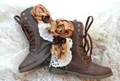Women's Combat boots Embellished  boots by TrueRebelClothing, $74.00