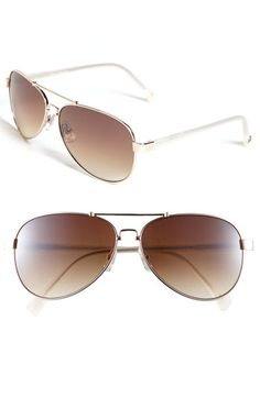 Vince Camuto Metal Aviator Sunglasses available at #Nordstrom