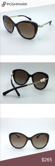 c82b39168de Chanel Polarized Tortoise Pearl Sunglasses