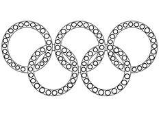 Koła Olimpijskie do wyklejania plasteliną i malowania Symbols, Letters, Fun, Letter, Lettering, Glyphs, Hilarious, Calligraphy, Icons