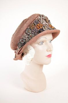 Felt brown turban hat Felted retro cloche hats Bonnet Millinery 1920s headpiece Flapper style Grat Gatsby style Derby hats for women Vintage