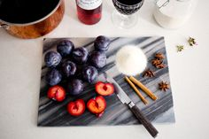 @Sarah Therese Wine Poached Plums by Peony Lim.