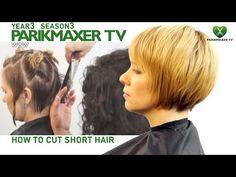 Стрижка коротких волос с челкой How to cut short hair парикмахер тв parikmaxer.tv - YouTube