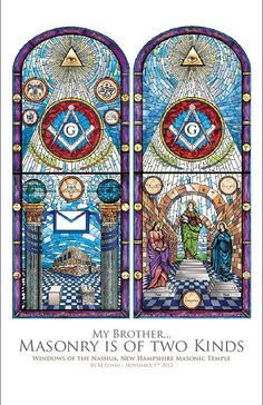 Masonic Temple Art Print Stained Glass by thecraftsmansapron, $18.99