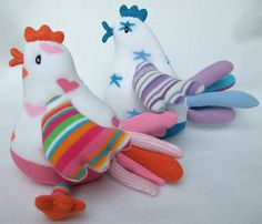 sock birdies! by sunsetgirl creations, via Flickr    pic inspiration