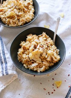 Easy roasted cauliflower risotto recipe - cookieandkate.com