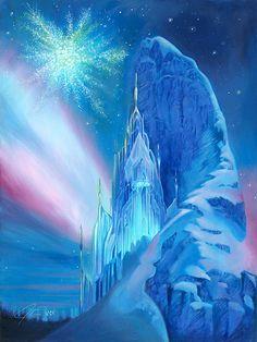 Frozen - Ice Castle - Original - John Rowe - World-Wide-Art.com
