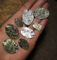 Metal Printmaking – Cass' steel plate roller printed pendants. Steel Plate, Printmaking, Workshop, Students, Pendants, Personalized Items, Printed, Metal, Atelier