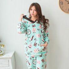 6b55f0a90 Pijamas de maternidad de enfermería conjunto con capucha manga larga algodón  lactancia materna enfermería pijama