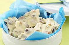 """Egg Nog"" White Chocolate Bark Recipe - Kraft Recipes"