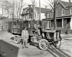 Detroit City Gas Company gas coke delivery wagon and workers. Circa There are some interesting details on the Packard truck they're driving. Particularly the wood framed glass windshield and the squeezable bulb horn. Antique Trucks, Vintage Trucks, Antique Cars, State Of Michigan, Detroit Michigan, Flint Michigan, Shorpy Historical Photos, Historical Pictures, Photos Rares