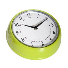 Färg & Form - Klocka - Plåt - 50-tal - Lime