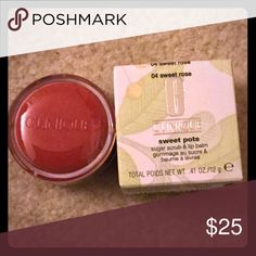 Lip Scrub 💄 Perfect for those winter lips  Never been opened or used  Price is firm unless you Bundle  Thank you 😊  Ask questions 😊 Clinique Makeup Lip Balm & Gloss