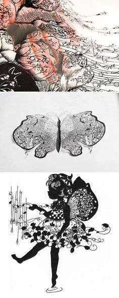 hina aoyama - fine lacy-paper-cuttings