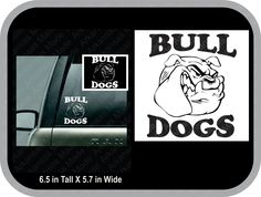 Bull dog car decal, bull dogs car decal, dog decal, bull dog sticker - pinned by pin4etsy.com