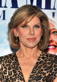 Christine Baranski (1952) (Mamma Mia, sang: Does your mother know, Leonard's mom in Big Bang Theory, Bowfinger, How The Grinch Stole Christmas)