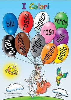 Learning Italian - Colors