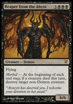Magic the Gathering Card Reviews: Reaper From the Abyss from Innistrad #mtg