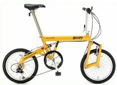 Birdy Yellow folding bicycle