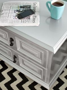 How to Transform Furniture With Creative Paint Applications: Automotive paints applied to wood and metal furniture result in glossy, sparkly factory finishes. Strip paint with an electric sander, then drop the unfinished piece off at an auto body shop.