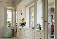 Built-in dresser. Master bedroom inspiration.