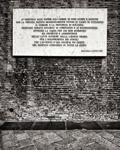 """""""To the children women and men of every nation and ancestry that the #Nazi ferocity killed savagely in the extermination camps..."""" 1961 Bologna"""