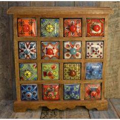 16 Drawer Ceramic Chest