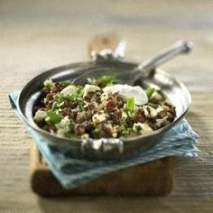 Reis-Hacktopf mit Schafskäse Rezept