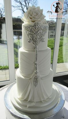 Wedding Cake Jewel encrusted wedding cake #amazingweddingcakesbeautiful #weddingcakes