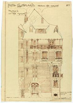 Hector Guimard,Hotel Guimard,122 Ave. Mozart, Paris, 1912