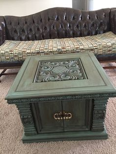 Antique thrift store dresser 50 painted with Maui Sand