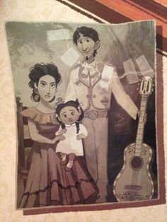 Hector, Imelda and their daughter Coco the Rivera Family from Coco