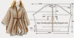 Moldes Moda por Medida: CAPA ENCORPADA SIMPLES DE CORTAR