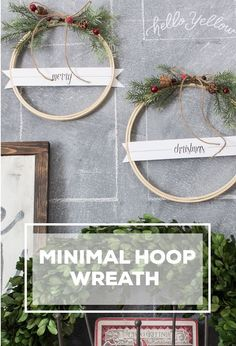 Christmas Embroidery Hoop Wreaths Merry Christmas Embroidery Hoop Wreath (With a free printable!)Merry Christmas Embroidery Hoop Wreath (With a free printable! Easy Christmas Crafts, Rustic Christmas, Christmas Holidays, Christmas Wreaths, Christmas Ornaments, Merry Christmas, Winter Holidays, Christmas Ideas, Diy Trend