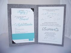 A DIYed pocket-tastic wedding invitation- organized like no one's business