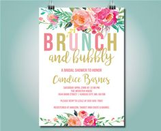 Colorful Brunch and Bubbly bridal shower by SimpleandStunning2
