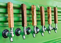 8 beer tap handles dark by BeardedBoyDesign on Etsy, $80.00
