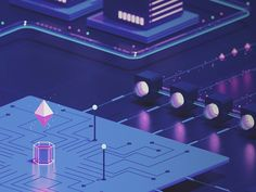 Blockchain Illustration II - Blockchain - Ideas of Blockchain - Great work from a designer in the Dribbble community; your best resource to discover and connect with designers worldwide. Graphisches Design, App Ui Design, Interface Design, Logo Design, Graphic Design, Business Illustration, Digital Illustration, 3d Cinema, Isometric Design